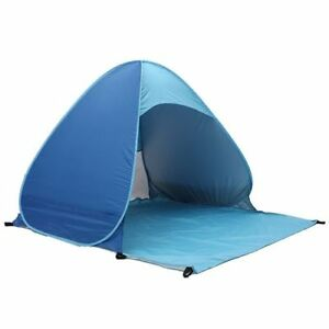 Image is loading blue-Beach-Tent-UV-Protection-Fully-Sun-Shade-  sc 1 st  eBay & blue Beach Tent UV Protection Fully Sun Shade Quick Open Pop Up ...