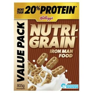 Kellogg's Nutri-Grain Iron Man Food Protein Breakfast Cereal Value Pack 805g