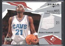DARIUS MILES 2003/04 UD BLACK DIAMOND DOUBLE GAME USED JERSEY #/250 SP $10