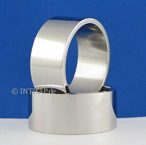 Ring - Edelstahlring 10 mm Edelstahl Damenring Herrenring Fingerring Bandring