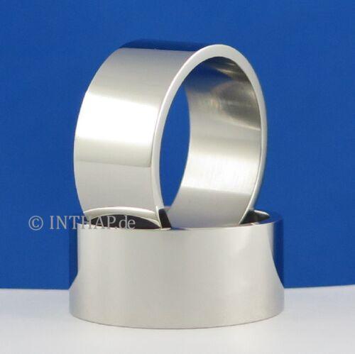 Edelstahlring 10 mm Edelstahl Damenring Herrenring Fingerring Bandring Ring
