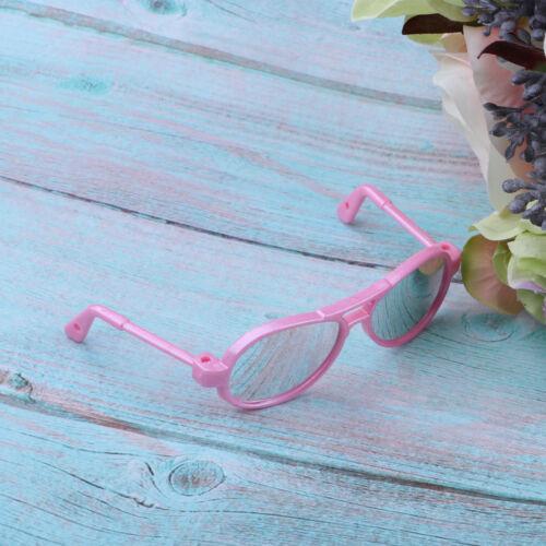 Adorable Plastic Frame Sun Glasses for 25cm Mellchan Baby Doll Pink Dress Up