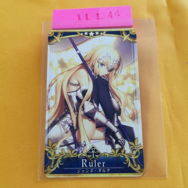 Fate Grand Order FGO Arcade Card Ruler Jeanne d/'Arc Sculpture Holo
