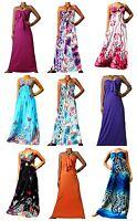 Womens Maxi Dress Summer Beach Holiday Dresses Boho Strapless Ladies Sundress