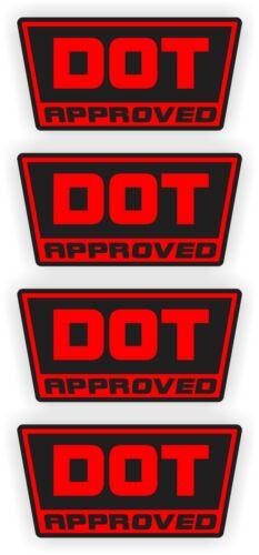 Dirt BIke YZ DOT Approved Motorcycle Helmet StickersDecalsD.O.T 4-pack