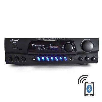 BLUETOOTH 200W DJ HOME THEATER DIGITAL STEREO RECEIVER AMP AMPLIFIER AM/FM iPOD