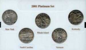 "COMPLETE Philadelphia Set 2002 P Five Coin /""BU/"" State Quarter Set w// Box and COA"