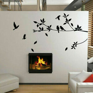 Large-Removable-Vinyl-Art-Wall-Sticker-Tree-Branch-Decals-Bird-Deko-Mural-G7G9