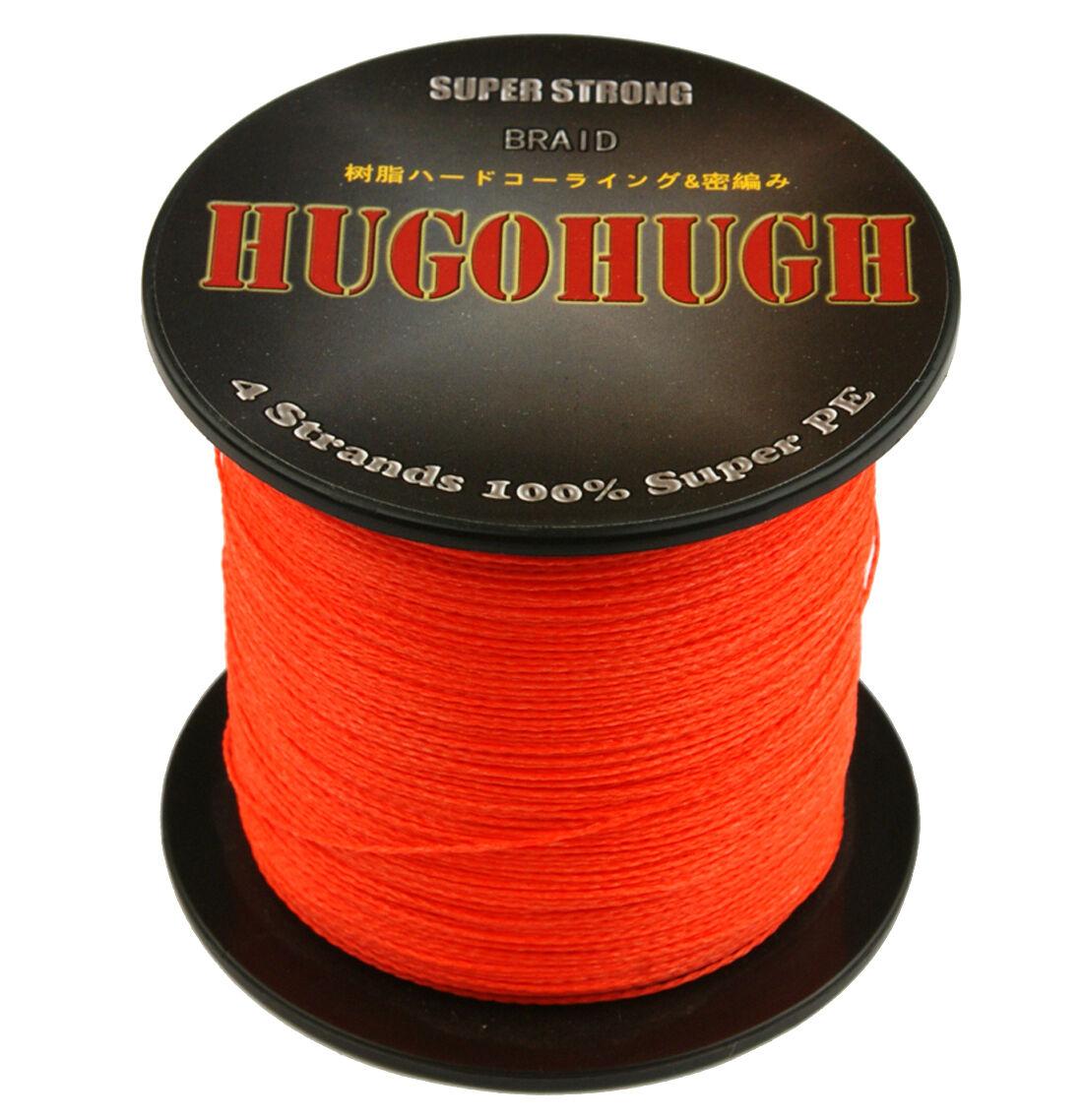 Good orange 100-1000M 6-300LB %PE Dyneema Power Super Strong Braid Fishing Line
