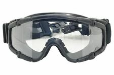 AIRSOFT PAINTBALL OPS CORE JUMP HELMET RAIL CLEAR SI GOGGLES GLASSES BLACK SWAT