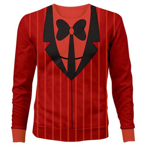 Details about  /Hazbin Hotel ALASTOR Printed Cosplay Sweatshirt Jacket Coat Costume