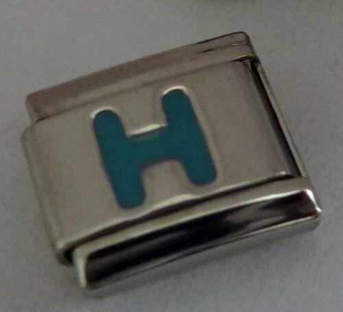 9 mm encanto italiano-opción de Bebé Azul Letras Alfabeto se adapta pulseras de arranque