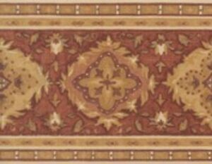 Wallpaper-Border-Designer-Terracotta-Rust-Gold-Tan-Cream-Tapestry