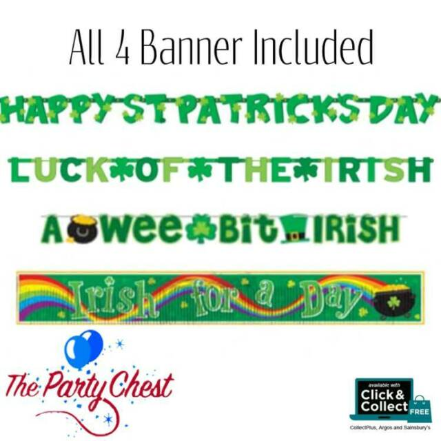 Large Pack Bumper Value Pack St Patricks Day Banners Garlands Party Decorations