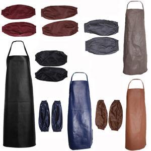 Waterproof-Restaurant-Cooking-Apron-Oversleeves-Forearm-Arm-Sleeve-Black-7-Color