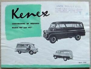 BEDFORD CA CONVERSIONS By KENEX 90 & 102 Sales Brochure Apr 1960 #B.800/460