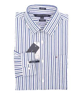 0ee8bdf2 Tommy Hilfiger Men's Long Sleeve Button-Down Stripe Casual Shirt ...