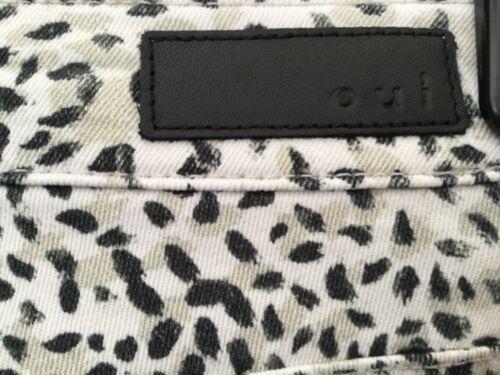 OUI Baxtor Slim Fit Jeans Jeggings Animal Print White Camel Black