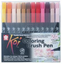 24 SAKURA Pinselstifte Koi Coloring Brush Pinselstift farbig sortiert Zeichnung