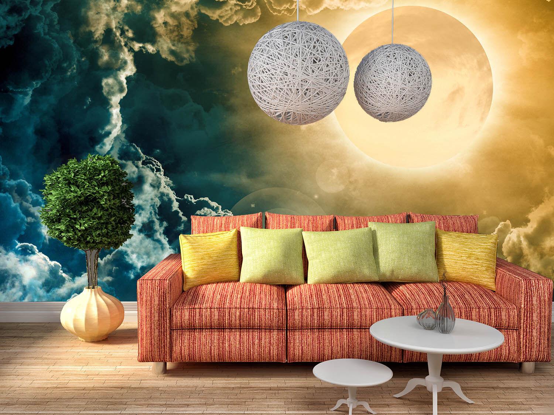 3D Mond Dunkle Wolken 74 Tapete Wandgemälde Tapete Tapeten Bild Familie DE Lemon