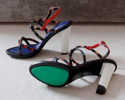 Eu High 7 Multicolour Sandals Designer Kenzo Size Heel 40 XYwFU
