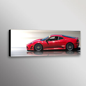 FERRARI 599 RED Sport Car Large Wall Canvas Picture ART  AU393 UNFRAMED-ROLLED