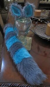 Blue Cheshire Cat Tail And Ears