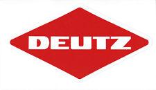 DEUTZ Aufkleber  Logo Emblem Sticker Label Baureihe 06 Serie  8x4,3 cm..