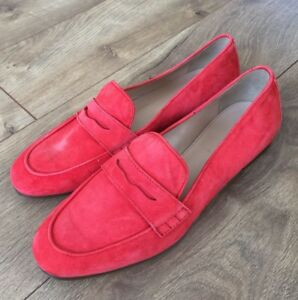 94942c07f6d JCREW Charlie Penny Loafers in Suede Flats  168 6.5 Flame Red F5592 ...