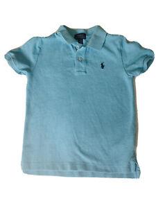 Short-Sleeve-Boys-Ralph-Lauren-Polo-Collared-Shirt-Blue-Size-5