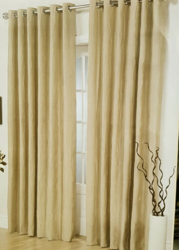 Como Latte Eyelet Curtains WAREHOUSE CLEARANCE