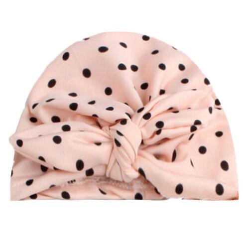 Baby Kid Girl Toddler Cute Bowknot Turban Head Wrap Hats Turban India Cap Beanie