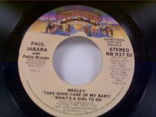 """PAUL JABARA """"TAKE GOOD CARE OF MY BABY & WHAT'S A GIRL TO DO  /MONO"""" 45 MT PROMO"""