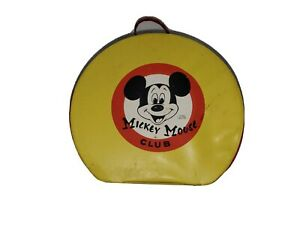 1950's Walt Disney's Mickey Mouse Club 'Round' Vinyl Carry Case