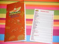 Stage 2 Children's Play food Lot Amigo Mexican Restaurant Menu  Ordering Sheet