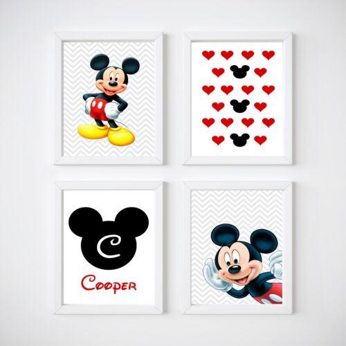Mickey Mouse Nursery Room Prints Kids wall decor,