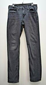 Old Navy Men Black Straight Leg Stretch Comfort Fit 5-Pocket Denim Jeans 32 x 32
