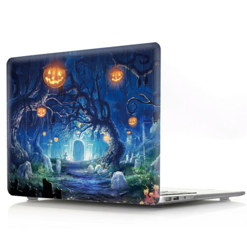 Pumpkin Ghost Halloween Laptop Sleeve Case Hard Shell Case For MacBook Touch Bar