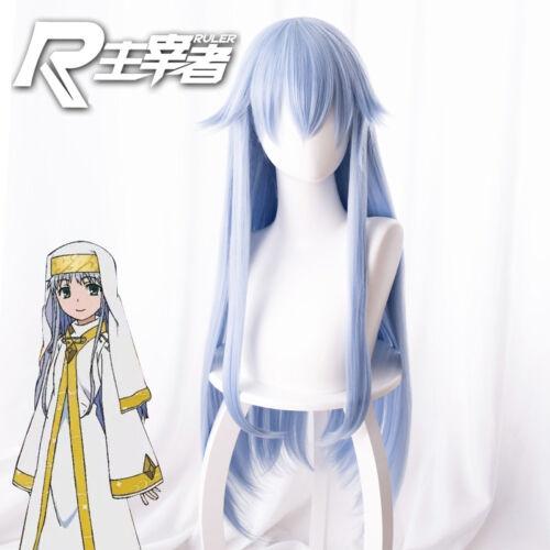 Anime Toaru Majutsu no Index Index Wig Ice Blue Long Straight Hair Party Cosplay