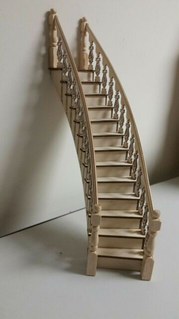 SPIRAL STAIRCASE Classic wood dollhouse miniature Right  CLA70222  1//12 scale