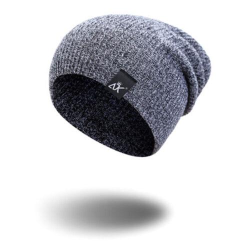 Women Men Unisex Camping Hats Winter  Baggy Warm Wool Ski Cap Fleece Line