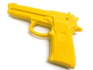 Yellow Polymer Training Pistol Practice Gun Trainer Built In Tip Costume Handgun