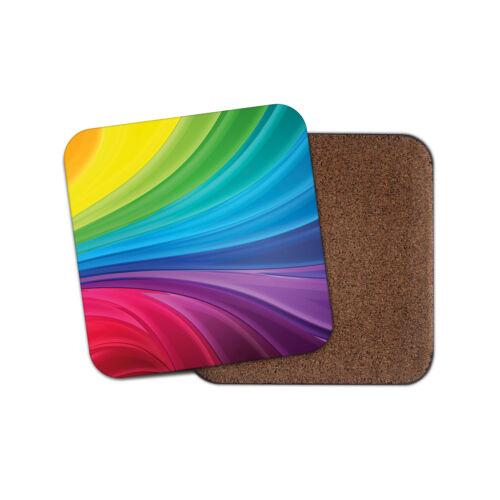 Art Mum Sister Fun Colourful Cool Auntie Gift #8886 Rainbow Colours Coaster