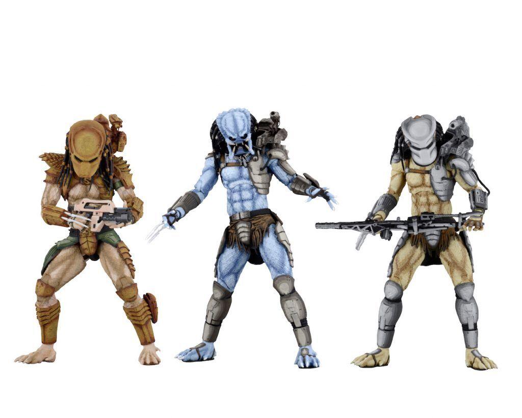 Aliens Vs PROTator Arcade Set of 3 Mad Hunter & Warrior Figures NECA PRE-ORDER