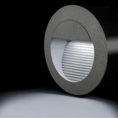 LED Wandeinbauleuchte Treppenleuchte rund Innen Außen IP65 kaltweiß Einbau .
