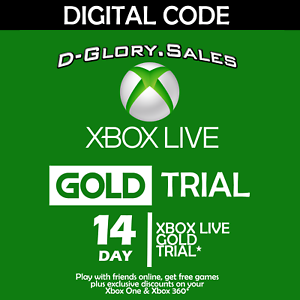 Details about XBOX LIVE 14 DAY (2 WEEK) GOLD TRIAL DIGITAL CODE (GLOBAL)