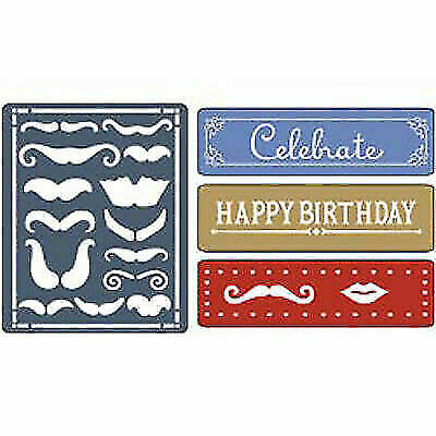 Sizzix Embossing Folder Border DOTTED BORDER fit Cuttlebug Wizard