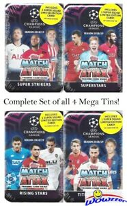 2018-19-Topps-Match-Attax-Champions-League-Soccer-Set-of-4-MEGA-TINS-240-Cards