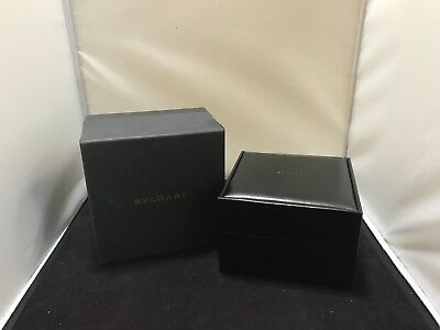 Boxes, Cases & Watch Winders Bvlgari Reloj Caja Estuche 100% Auténtico Cf5977-11 As1