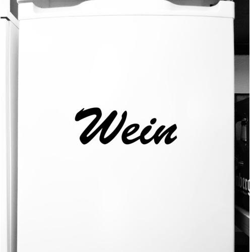 Vin 18 cm Autocollant Tatouage DECO PVC Film lettrage cuisine frigo bar comptoir